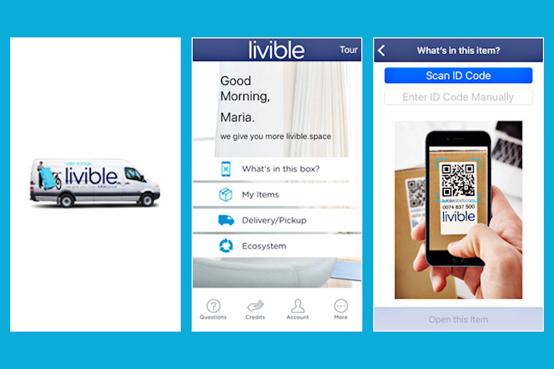 Livible allows customers to manage their stored possessions via a mobile app.